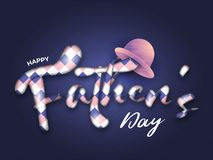 Kreatywnie tekst Szczęśliwy ojca dnia plakat, sztandar, ulotka lub kartka z pozdrowieniami, ilustracji