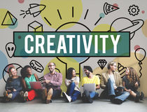 Kreatywnie twórczość Inspiruje pomysł innowaci pojęcie obrazy stock