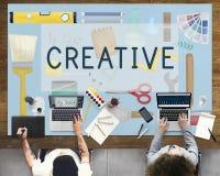 Kreatywnie twórczość Inspiruje pomysł innowaci pojęcie obraz stock