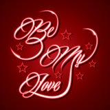 Kreatywnie typograficzny projekt dla Był Mój miłością Obraz Royalty Free