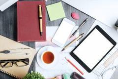 Kreatywnie upaćkany tabletop Obraz Stock