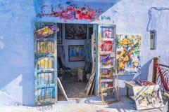 Kreatywnie warsztat nowożytny uliczny artysta zdjęcie stock
