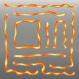 Kreatywnie wektorowa ilustracja żelazna spawka szwu linia na przejrzystym tle Sztuka projekta metalu gorąca stal ilustracji