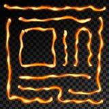 Kreatywnie wektorowa ilustracja żelazna spawka szwu linia odizolowywająca na przejrzystym tle Sztuka projekta metalu gorąca stal ilustracji