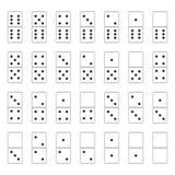 Kreatywnie wektorowa ilustracja realistyczny domino folował set odizolowywającego na przejrzystym tle Domino kości sztuki projekt royalty ilustracja