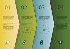 Kreatywnie wektorowy szablon - cztery strzała w różnych kolorach z Ilustracja Wektor