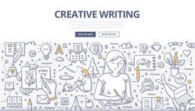 Kreatywnie Writing Doodle pojęcie royalty ilustracja