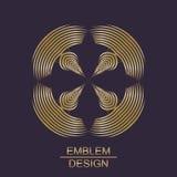 Kreatywnie złocisty geometryczny symbol Fotografia Royalty Free