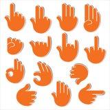 Kreatywnie znak lub sygnałowy przedstawienie ręką Zdjęcia Stock