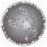 Krebs in einem Blumenrahmen Stockbild
