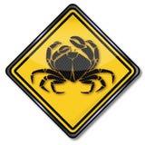 Krebs und Krabbe lizenzfreie abbildung