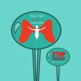 Krebsbewusstseinsmitteilung für Luftballon Lizenzfreie Stockfotos