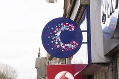 Krebsforschungs-Nächstenliebe-Shop-Zeichen - Scunthorpe, Lincolnshire, UNO Stockfotos