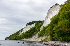 Kreda kołysa na Ruegen wyspie w Niemcy blisko morza bałtyckiego zdjęcia stock