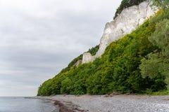 Kreda kołysa na Ruegen wyspie w Niemcy blisko morza bałtyckiego fotografia royalty free
