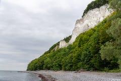 Kreda kołysa na Ruegen wyspie w Niemcy blisko morza bałtyckiego zdjęcia royalty free