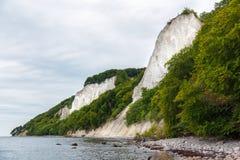 Kreda kołysa na Ruegen wyspie w Niemcy blisko morza bałtyckiego fotografia stock