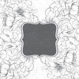 Kreda kwitnie blackboard ramę ilustracji