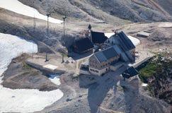 Kredarica Hut below the summit of Triglav Royalty Free Stock Image