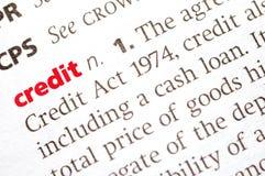 krediet stock afbeelding