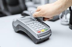 Krediet en debetkaart het winkelen wachtwoordbetaling Royalty-vrije Stock Afbeelding