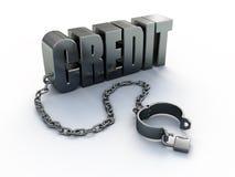 Krediet en sluiting vector illustratie