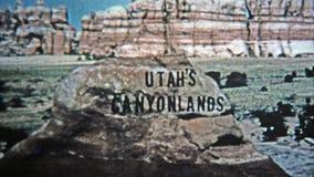 1971: Krediet van de de stijl analoge titel van Utah canyonlands het oude stock video