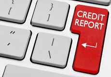 Kredietrapport Stock Foto's