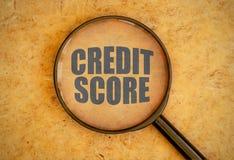 Kredietscore royalty-vrije stock fotografie