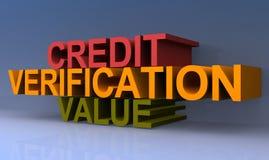 Kreditüberprüfungswert stock abbildung