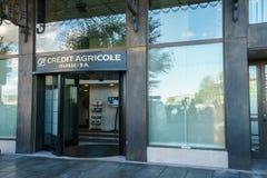 Kredit Agricole-Bank Lizenzfreies Stockbild