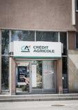 Kredit Agricole-Bank Stockfotos
