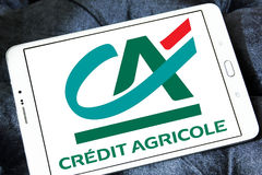 Kredit agricole Banklogo Stockfotos