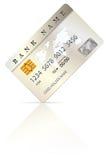 Kredit oder Debitkarteentwurfsschablone Lizenzfreies Stockbild