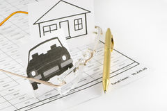 Kreditaufgaben lizenzfreies stockfoto