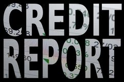 Kreditauskunft Stockfotos