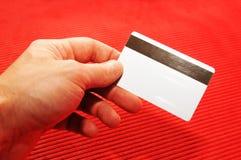 kreditering för blankt kort Arkivfoton