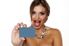 kreditering för blankt kort fotografering för bildbyråer