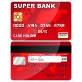 Krediterings-/debiteringkortframdel och baksida Royaltyfri Illustrationer