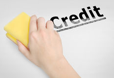 Krediteringsord Arkivbild