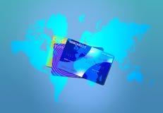 krediteringsvärld Arkivfoto