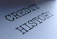 Kreditgeschichte lizenzfreie stockbilder