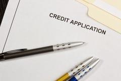 Kreditgesuch Lizenzfreies Stockbild