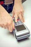Kreditkarte-Anschluss-Maschine Lizenzfreies Stockbild
