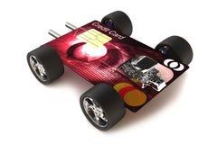 Kreditkarte auf Rädern Stockbilder