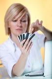 Kreditkarte choise Stockfotografie