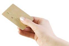 Kreditkarte in der Hand Lizenzfreie Stockbilder
