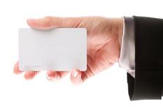 Kreditkarte in der Hand Stockbilder