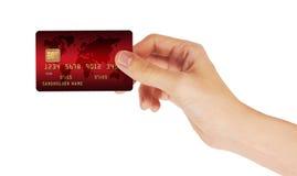 Kreditkarte in der Hand lizenzfreies stockbild