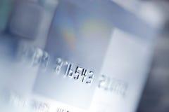 Kreditkarte-Hintergrund Stockfotos